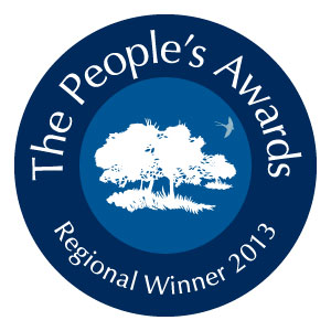 The People's Awards for the Best Natural Burial Ground in the UK 2013 - Regional Winner logo